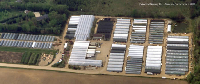 Aerial view of Twixwood's Shawnee North farm